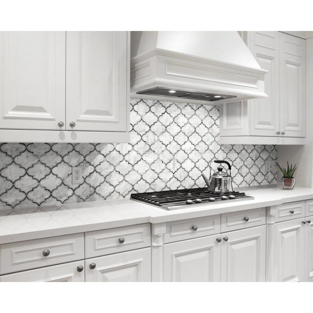 Floor and Decor Kitchen Backsplash Lovely Provence Carrara Water Jet Cut Marble Mosaic 12in X 12in
