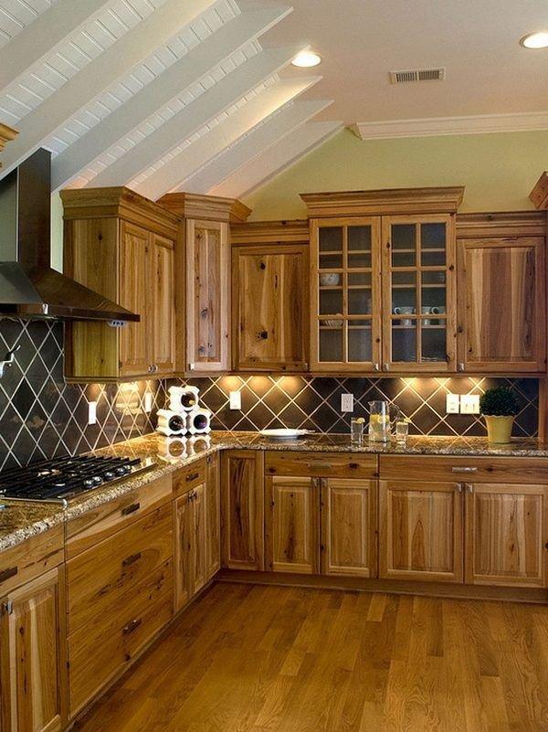 Floor and Decor Kitchen Backsplash Unique Kitchen Decor Ideas Rustic Kitchen Hickory Cabinets Wood Floor Tile Backsplash I Like Color Of