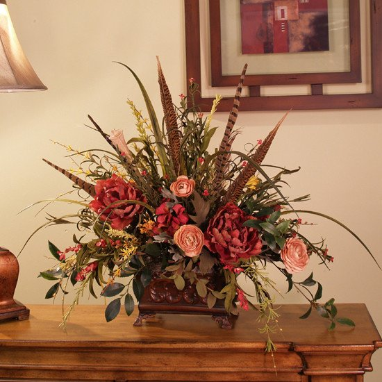 Flower Arrangements for Home Decor Beautiful Silk Flowers