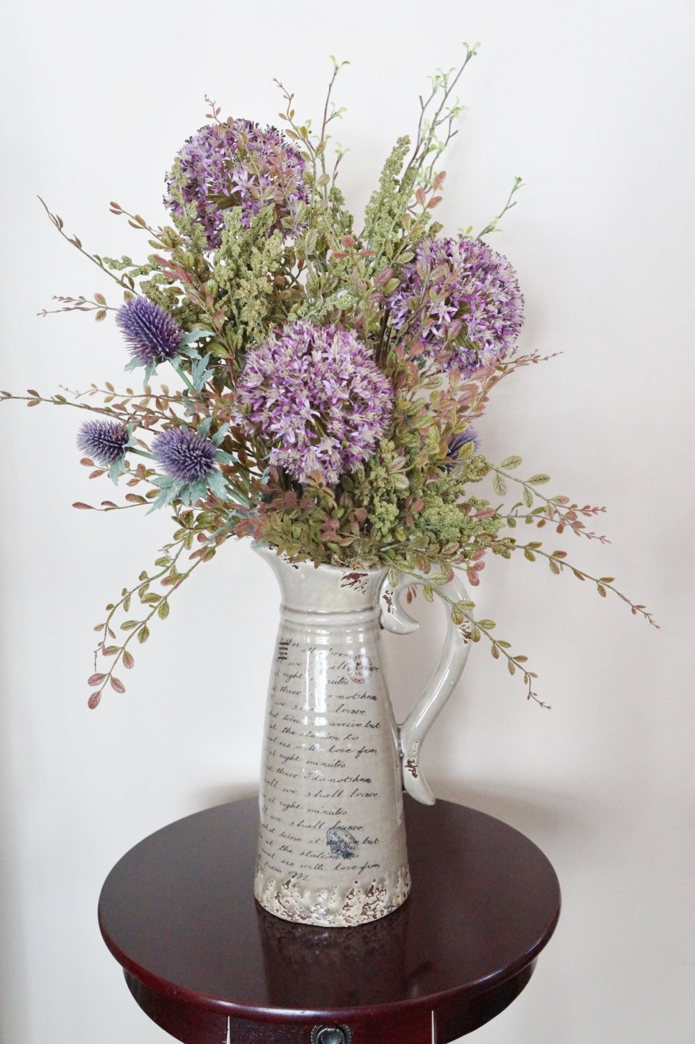 Flower Arrangements for Home Decor Inspirational Flower Arrangement Home Decor Allium Rustic Arrangement