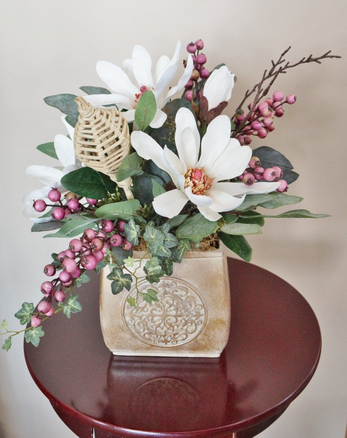 Flower Arrangements for Home Decor New Flower Arrangement Home Decor Magnolias Magnolia