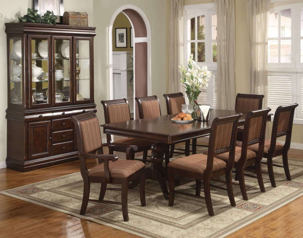 Formal Dining Room Table Decor Awesome Merlot 7 Piece formal Dining Room Set Table 4 Side Chairs 2 Arm Chairs