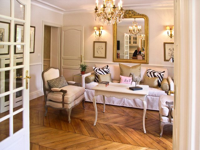French Contemporary Living Room New French Provincial Apartment In Paris Contemporary Living Room Paris by Paris Perfect