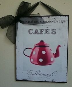 French Country Kitchen Wall Decor Beautiful Red Poka Dot Coffee Kitchen French Shabby Country Chic Wall Decor Sign