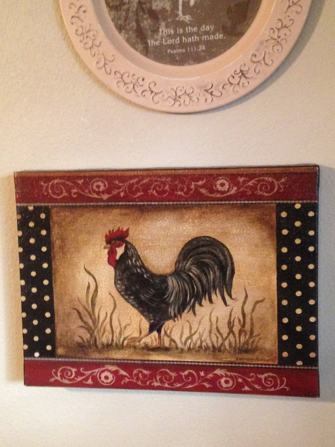 French Country Kitchen Wall Decor New Vintage Rooster French Country Kitchen Home by Lonestarlucy