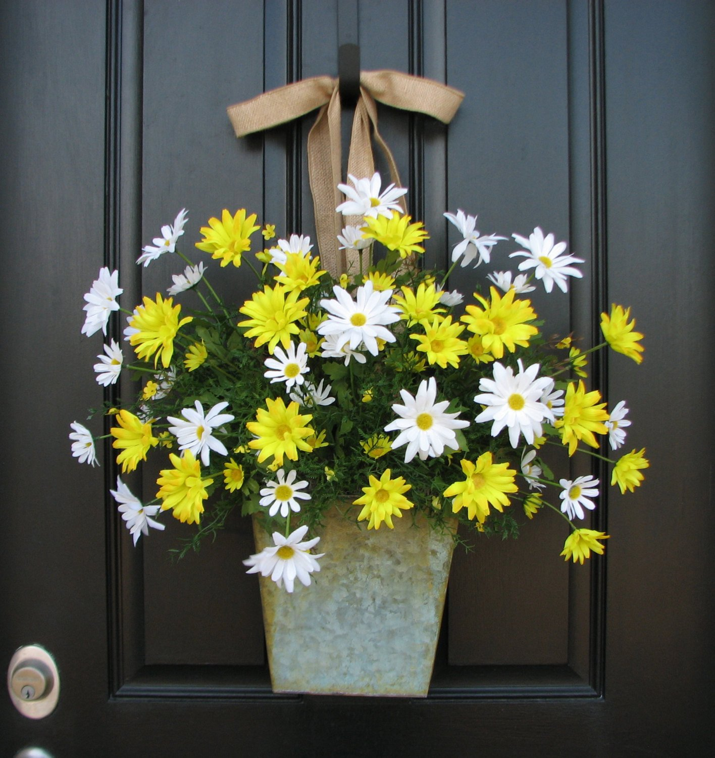 Front Door Decor for Summer Elegant Country Cottage Decor Front Door Wreath Yellow by Twoinspireyou
