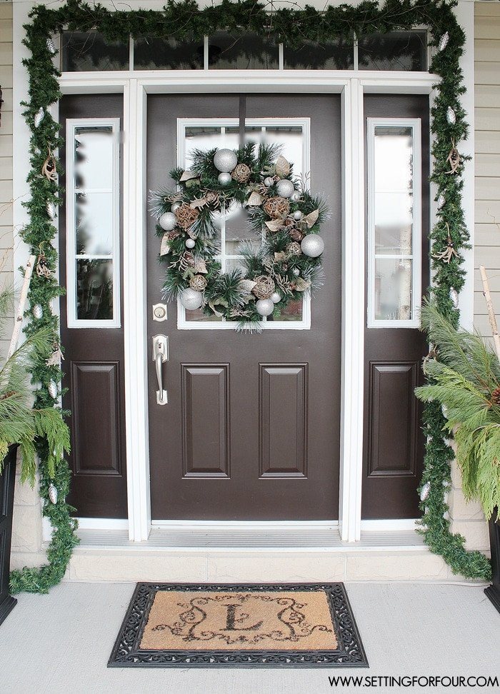 Front Door Decor for Winter Awesome Christmas Home tour Setting for Four