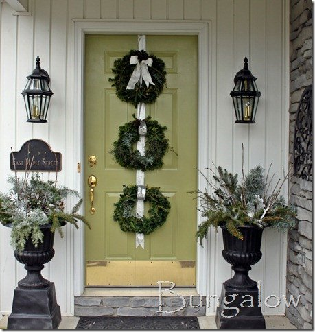 Front Door Decor for Winter Beautiful Winter Porch and Winter Outdoor Decorating Ideas