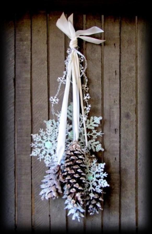 Front Door Decor for Winter Best Of Winter Wonderland Frosted Pine Cones Snowflakes Easy Diy for the Front Door