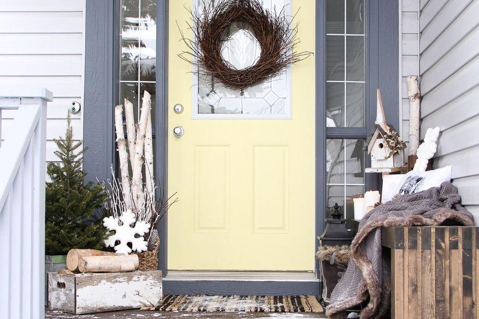 Front Door Decor for Winter Elegant 21 Best Winter Porch Decorating Ideas