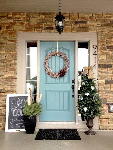 Front Door Decor for Winter Elegant 29 Cozy and Inviting Winter Porch Décor Ideas Gardenoholic