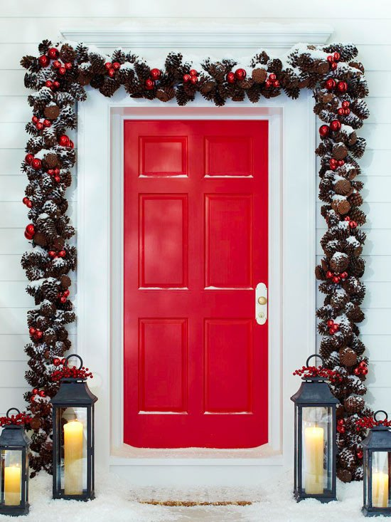Front Door Decor for Winter Elegant Front Door Christmas and some Winter Displays and Decor that Say Wel E