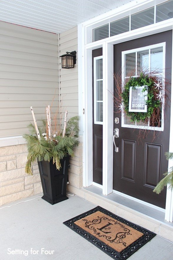 Front Door Decor for Winter Fresh Winter Porch and Winter Outdoor Decorating Ideas