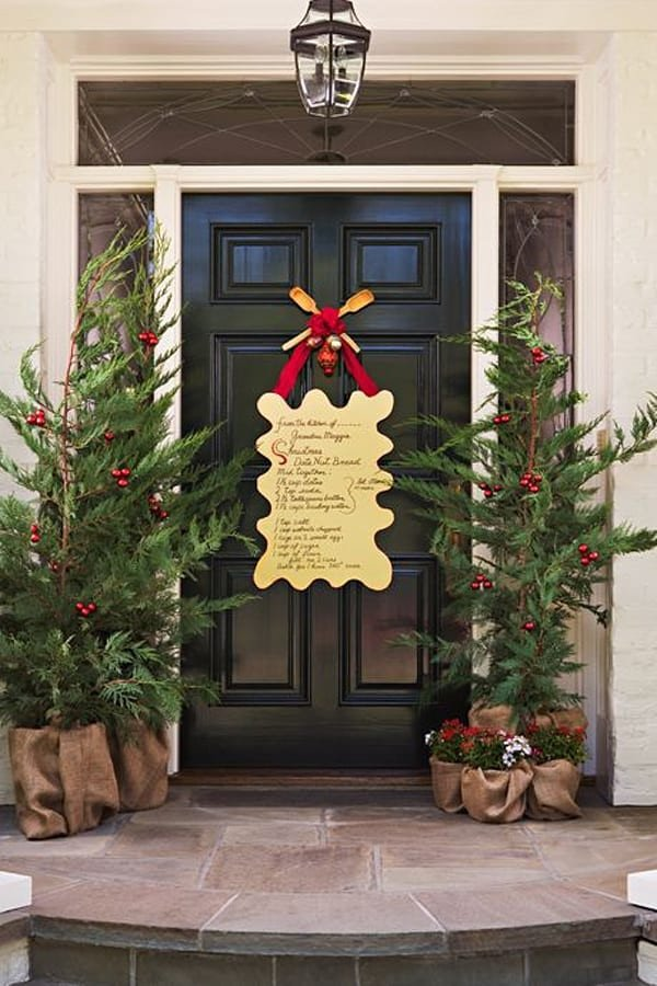 Front Door Decor for Winter Luxury 50 Fabulous Outdoor Christmas Decorations for A Winter Wonderland