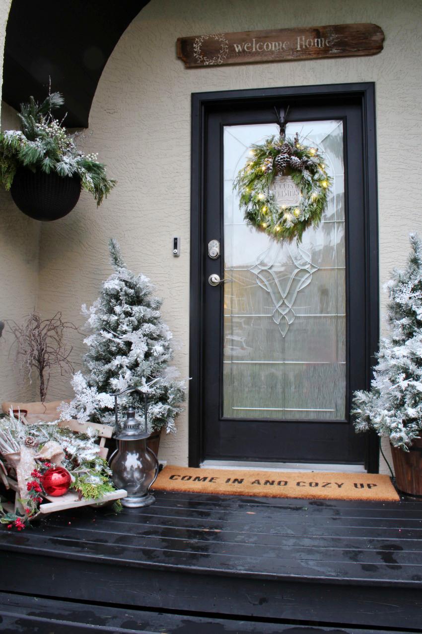 Front Door Decor for Winter Unique 10 Christmas Front Door Decor Ideas Day 11 12 Days Of Christmas Blog Hop