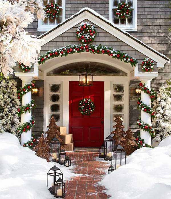 Front Porch Decor for Christmas Fresh 40 Cool Diy Decorating Ideas for Christmas Front Porch