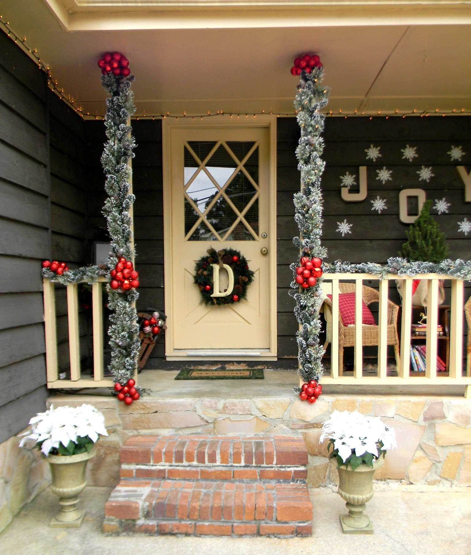 Front Porch Decor for Christmas Fresh Front Porch Christmas Decorating Ideas Country Christmas