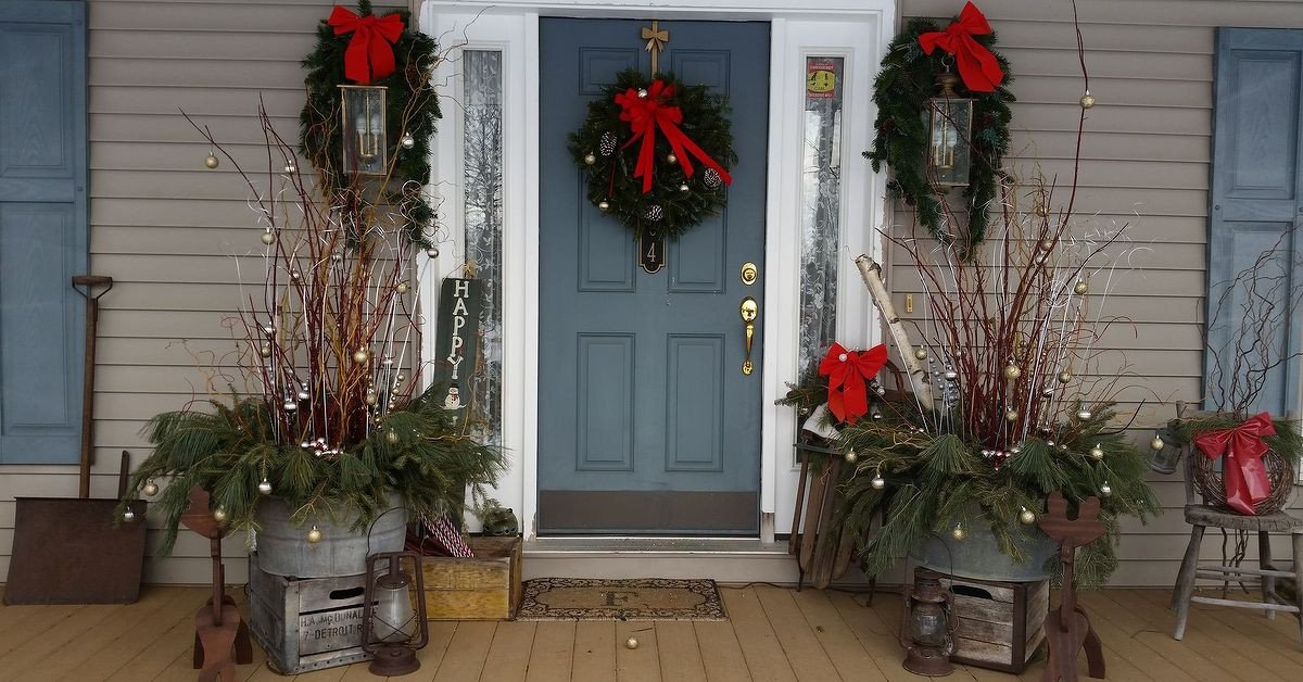 Front Porch Decor for Christmas Lovely How I Dressed Up My Front Porch for Christmas and the Winter Season