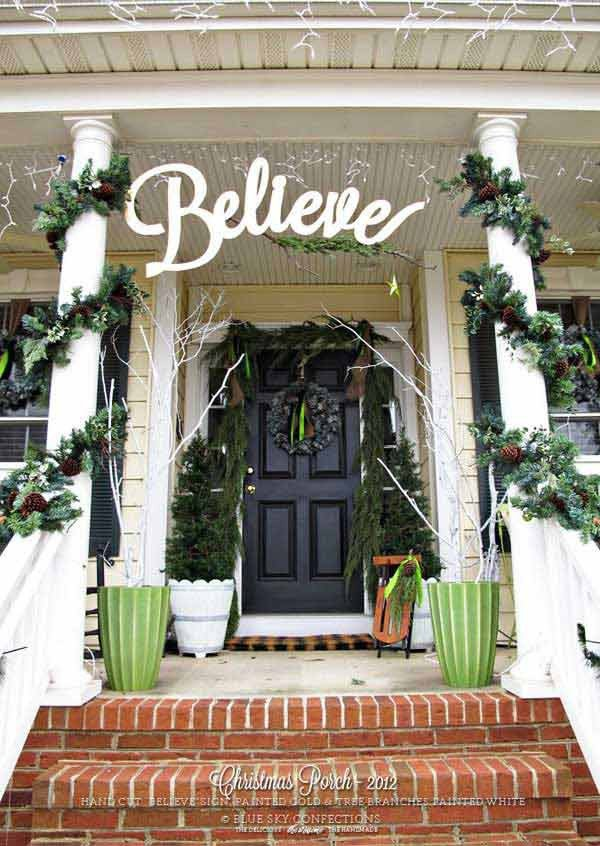 Front Porch Decor for Christmas Luxury 40 Cool Diy Decorating Ideas for Christmas Front Porch
