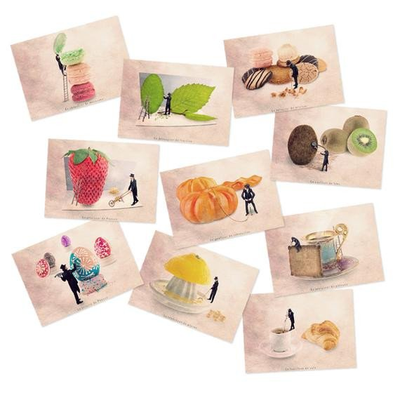 Fruit themed Kitchen Decor Collection Beautiful Postcard Set Food themed Art Postcards Food by Graphydream