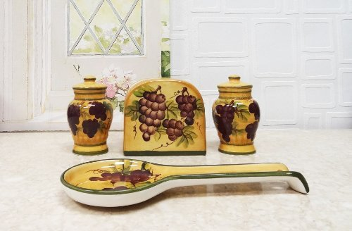 Fruit themed Kitchen Decor Collection Fresh Tuscany Grapes Kitchen Decor