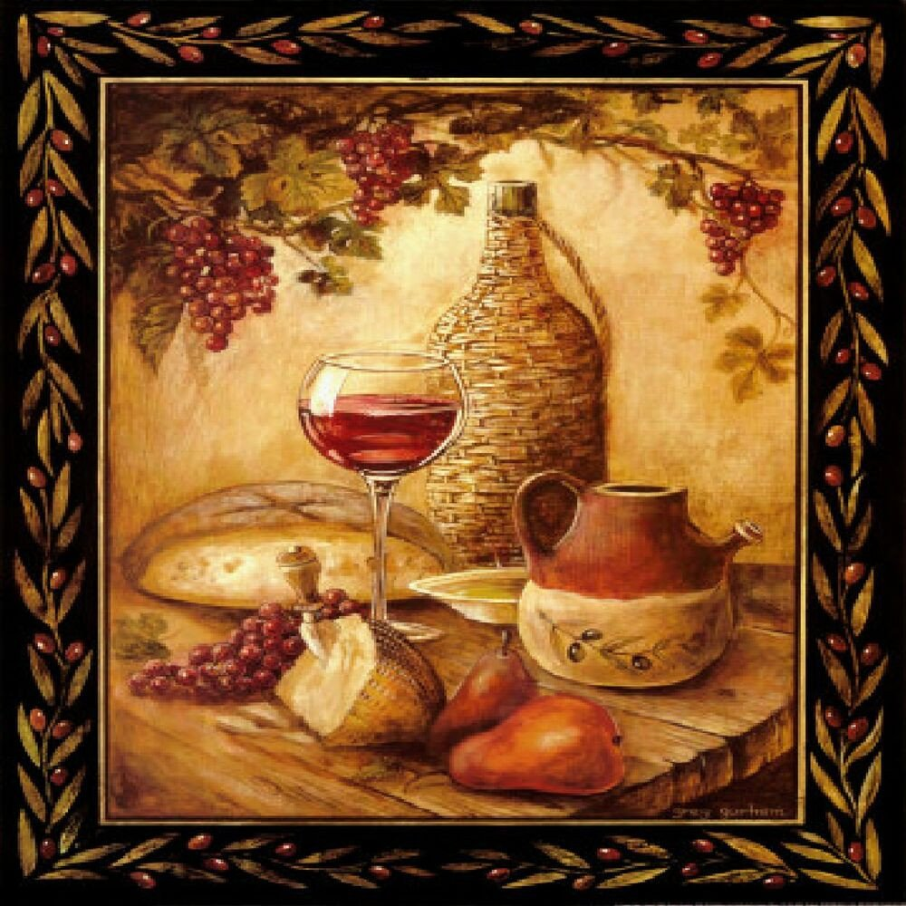 Fruit themed Kitchen Decor Collection Unique Tuscan Wine & Grapes I Italian Kitchen theme Decor Square Coaster Set Of 4