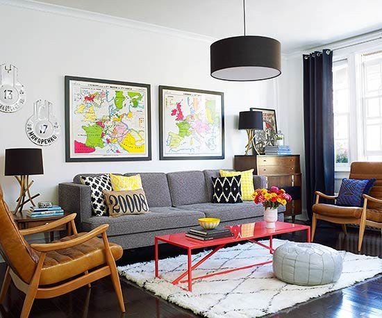 Fun Living Room Decorating Ideas Unique before and after A Modern Makeover for A Small Apartment
