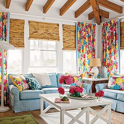 Fun Living Room Decorating Ideas Unique Vibrant Family Room Have Fun with Color Coastal Living