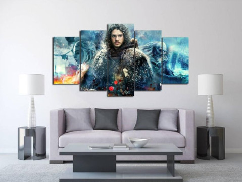 Game Of Thrones Office Decor Inspirational 5 Pcs Framed Game Of Thrones Artwork Canvas for Game Of Thrones Fan – Epickanvas