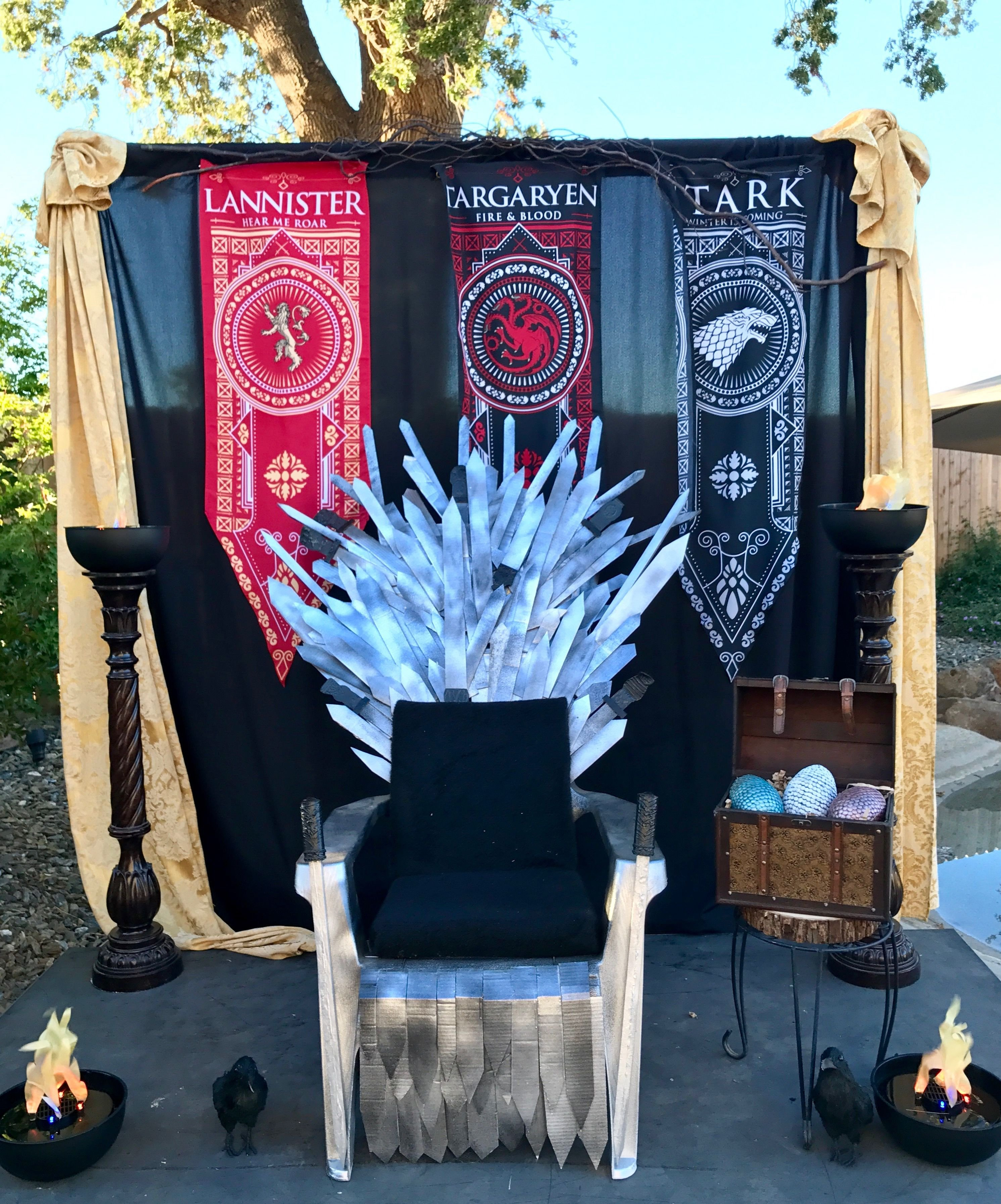 Game Of Thrones Office Decor Inspirational Game Of Thrones Party Backdrop Decor Game Of Thrones In 2019
