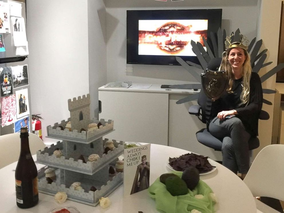 Game Of Thrones Office Decor New Fice Throws Game Of Thrones themed Wedding Shower for Co Worker Abc News Gma Howldb