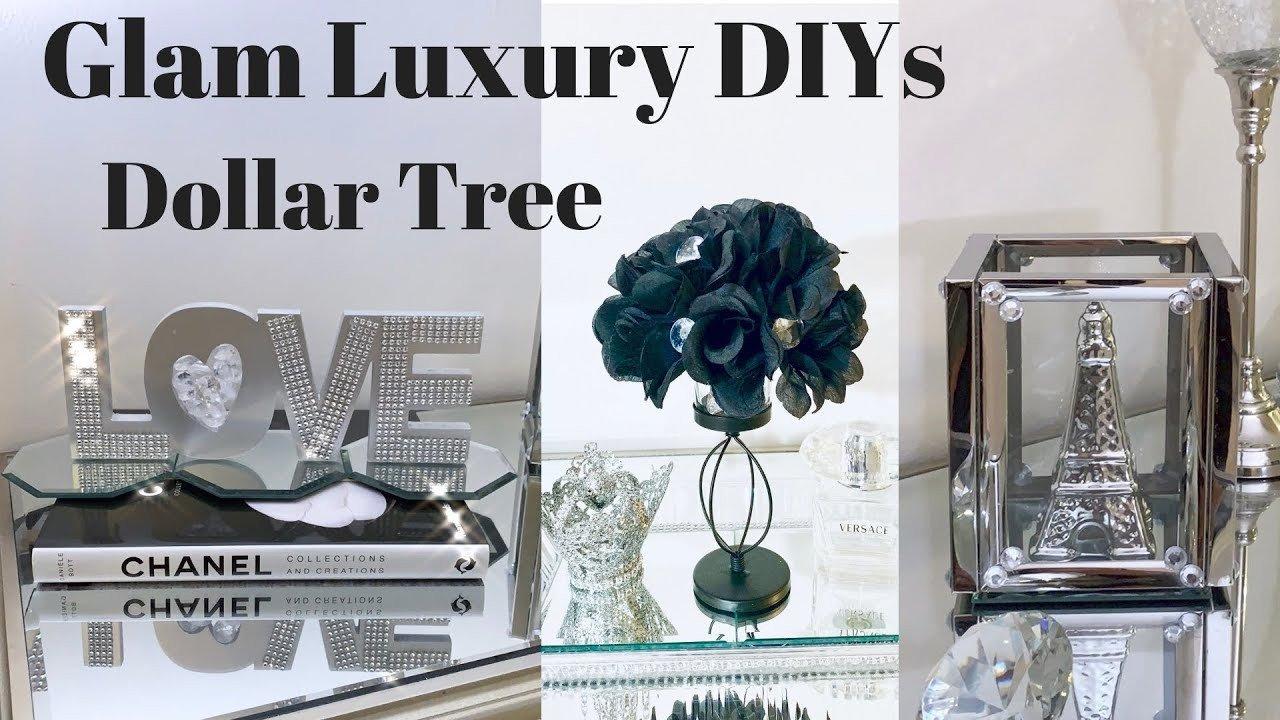 Glam Decor On A Budget Beautiful Dollar Tree Mirror Diy Glam and Luxury Decor On A Bud