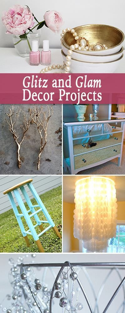 Glam Decor On A Budget Luxury Glitz and Glam Home Decor Projects • the Bud Decorator