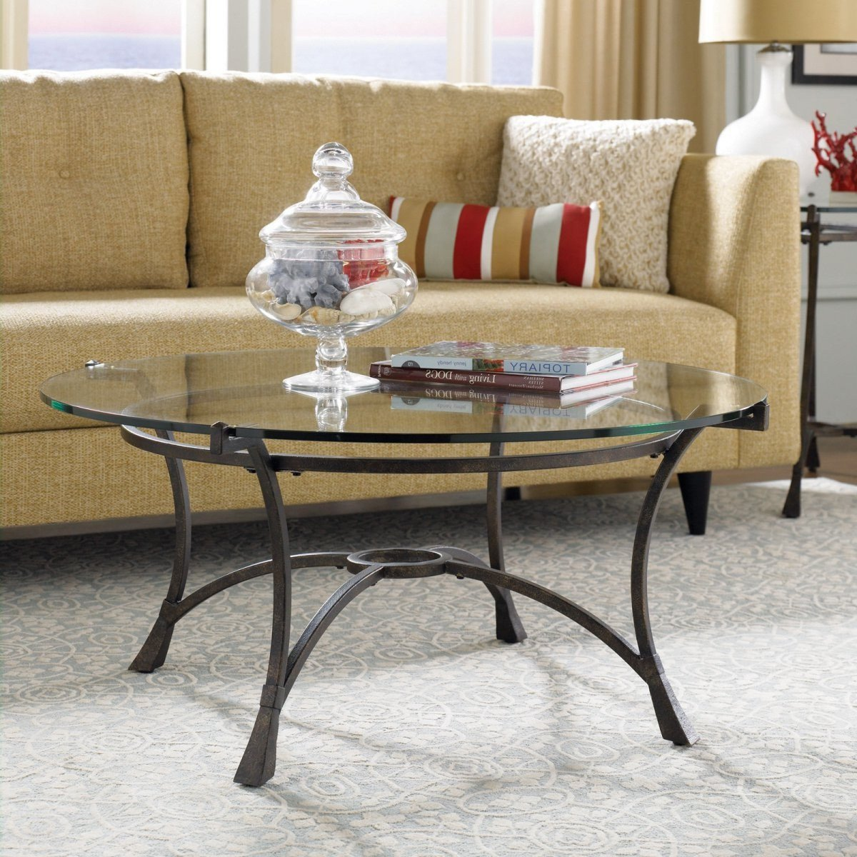 Glass Coffee Table Decor Ideas Best Of Round Glass Coffee Table Decorating Ideas Home Decor Ideas