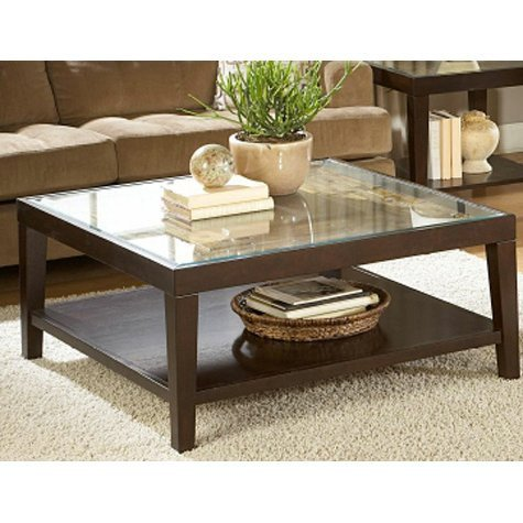 Glass Coffee Table Decor Ideas Inspirational Merlot Square Glass top Coffee Table