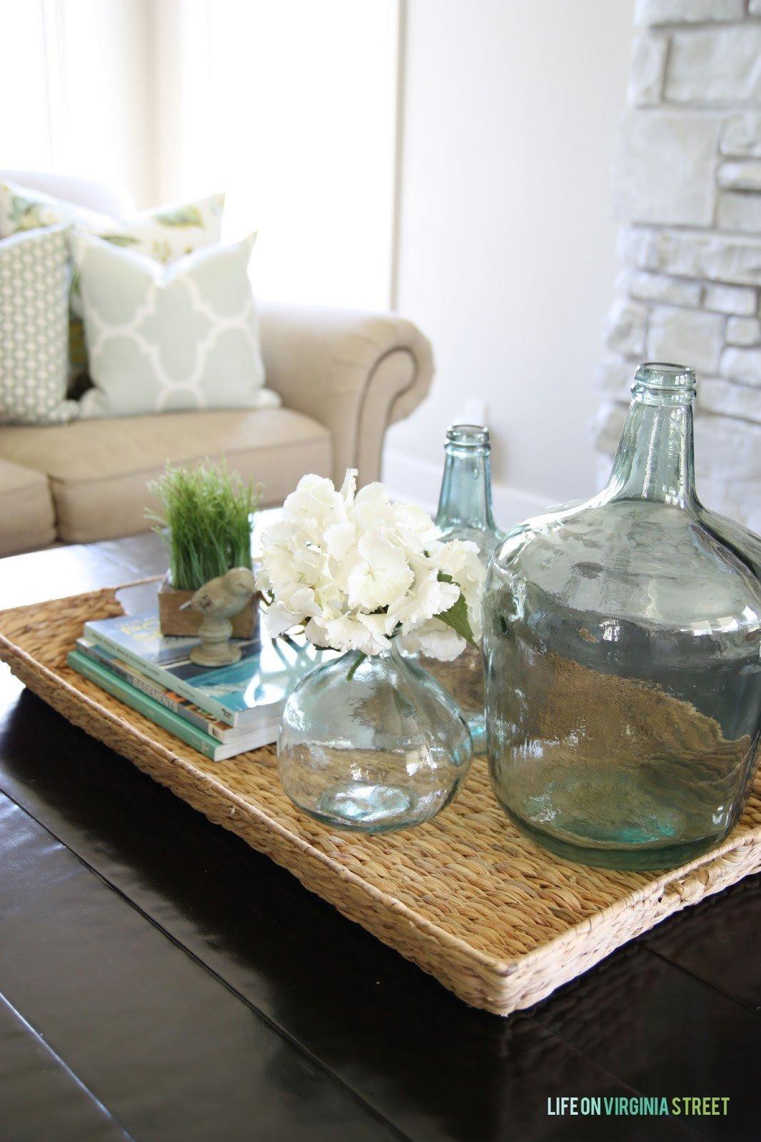 Glass Coffee Table Decor Ideas Luxury Summer Home tour Life Virginia Street