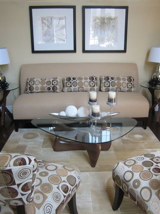 Glass Coffee Table Decor Ideas Unique Small Living Room the Light Earth tones Open the Room and Along with the Glass Table Make It