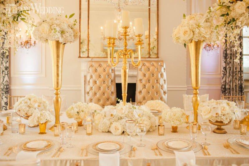 Gold and Ivory Wedding Decor Beautiful Glamorous Gold and Ivory Wedding theme