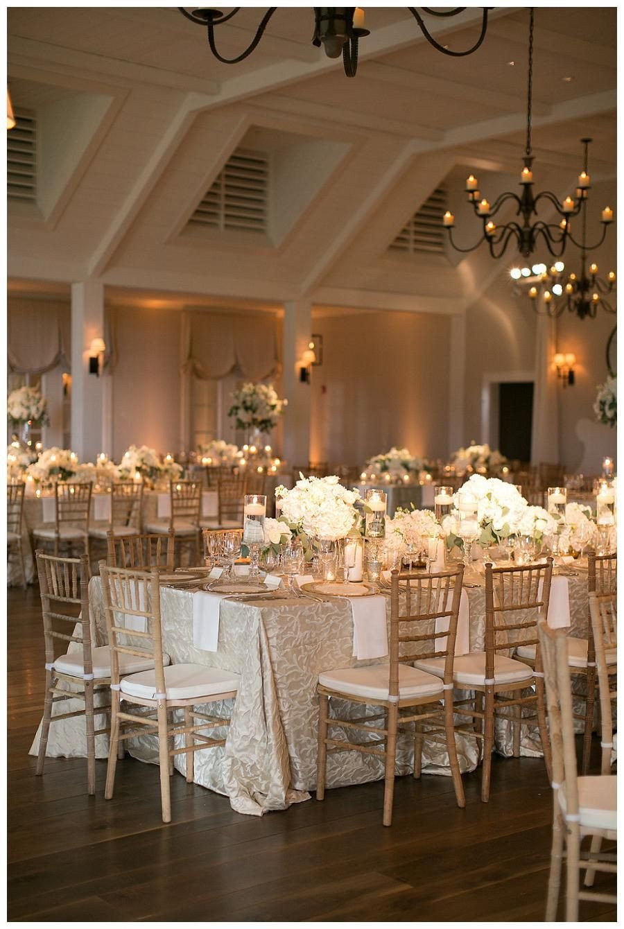 Gold and Ivory Wedding Decor Lovely Gold Ivory and White Wedding Reception Decor with White Florals In Glass Vessels Place