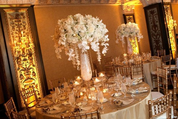 Gold and Ivory Wedding Decor Luxury New Year S Eve Wedding In San Diego California Inside Weddings