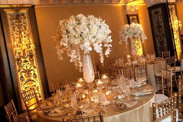 Gold and Ivory Wedding Decor Luxury New Year S Eve Wedding In San Diego California Inside Weddings