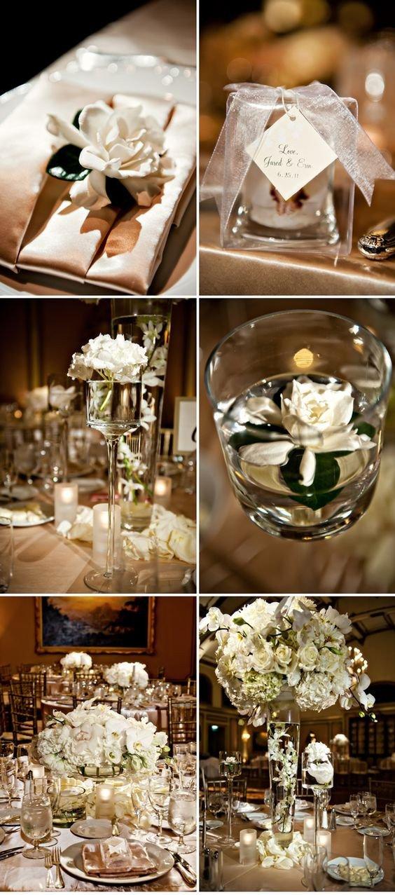 Gold and Ivory Wedding Decor New Elegant Ivory California Wedding