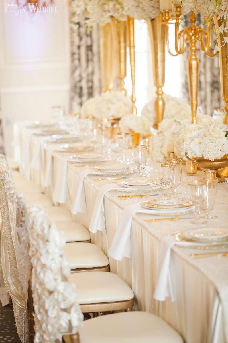 Gold and Ivory Wedding Decor New Glamorous Gold and Ivory Wedding theme