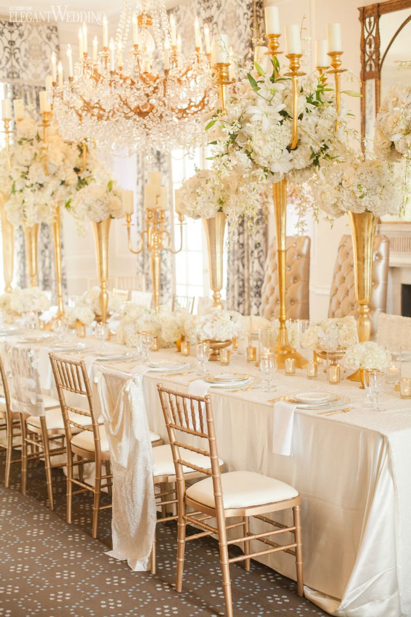 Gold and Ivory Wedding Decor Unique Glamorous Gold and Ivory Wedding theme