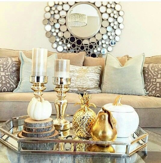 Gold and Silver Home Decor Beautiful Gold and Silver Living Room