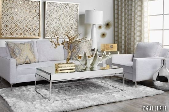 Gold and Silver Home Decor Beautiful Love This Room with Mixed Gold and Silver Metals Grounded by White Home
