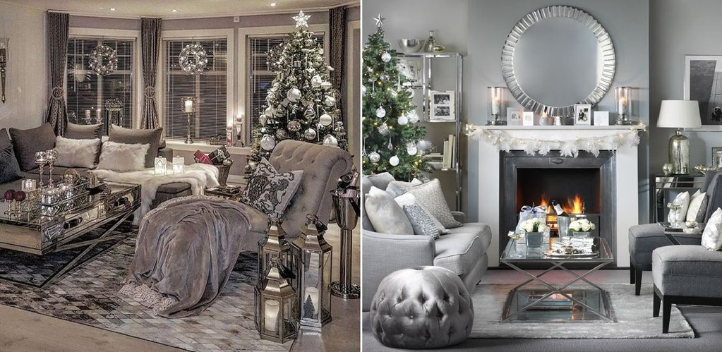 Gold and Silver Home Decor New Glamour White Silver and Gold Christmas Home Decor – Belle Fierté