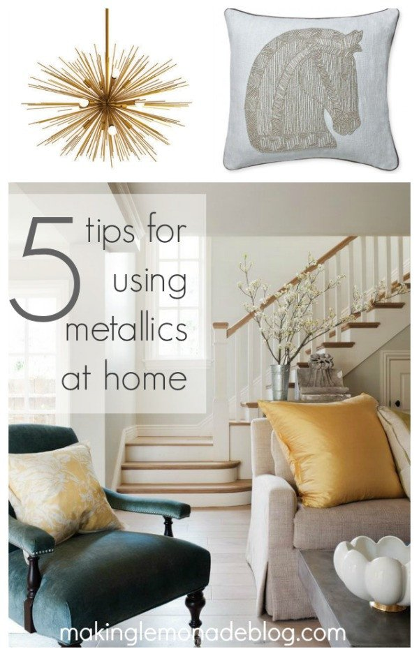 Gold and Silver Home Decor Unique 5 Tips for Using Metallics at Home
