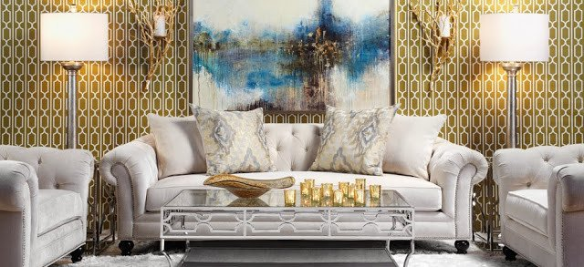 Gold and Silver Home Decor Unique Mixing Metals In Home Decor