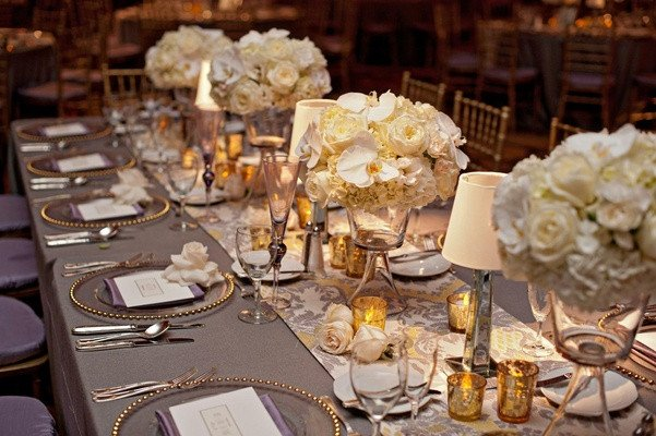 Gold and Silver Wedding Decor Awesome Modern Purple & Gold Hollywood themed Wedding Inside Weddings